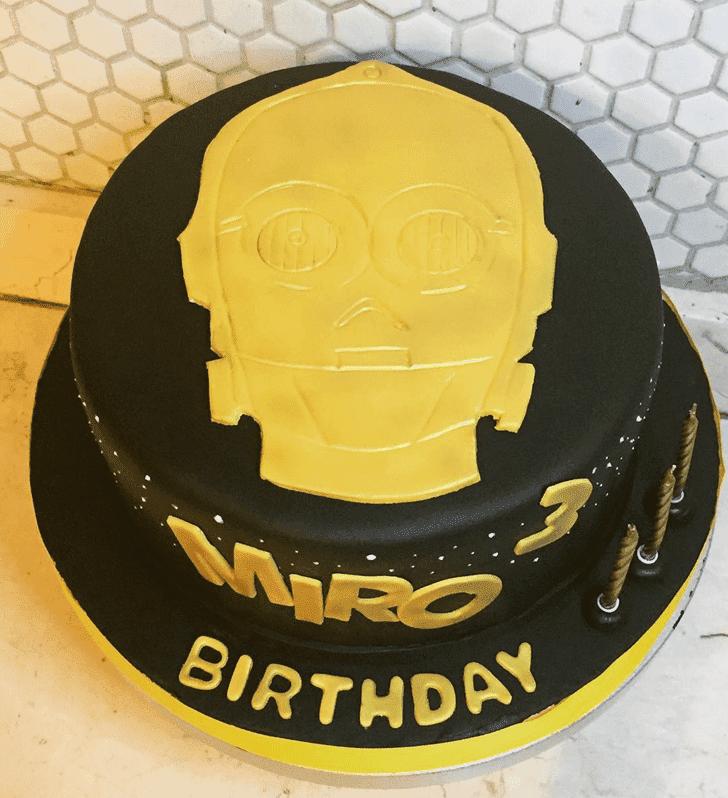 Delicate C-3PO Cake