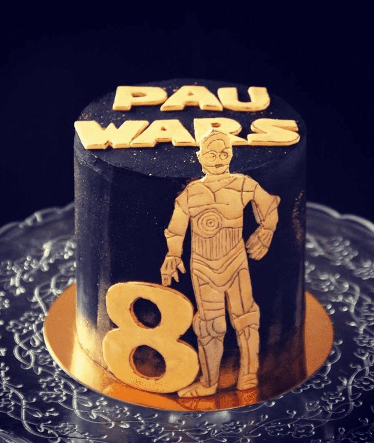 Delightful C-3PO Cake