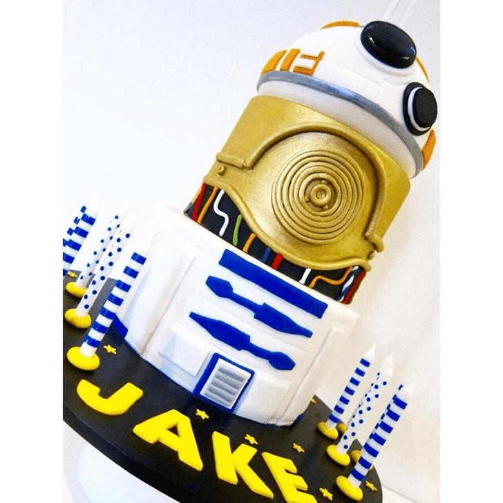 Elegant C-3PO Cake