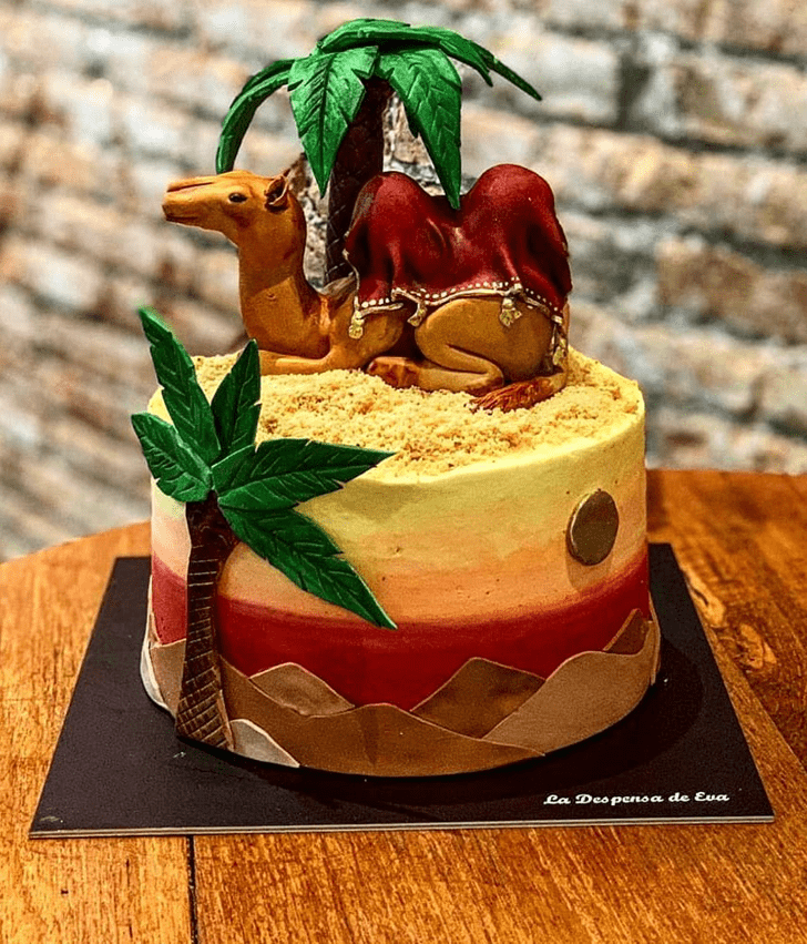 Captivating Camel Cake
