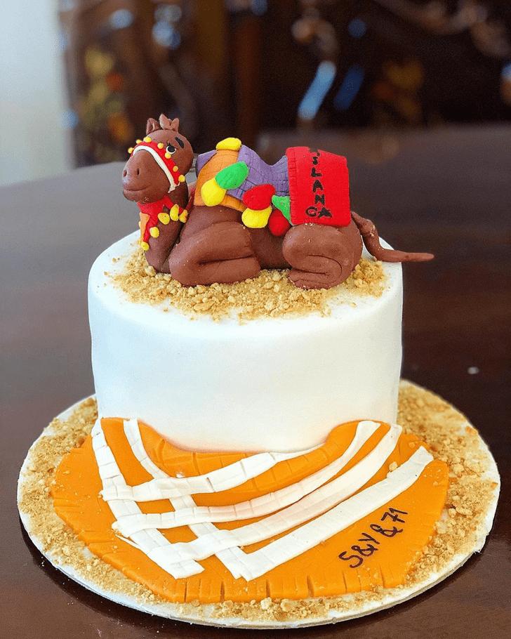 Charming Camel Cake