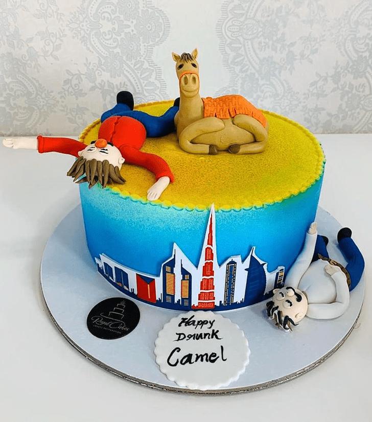 Pretty Camel Cake