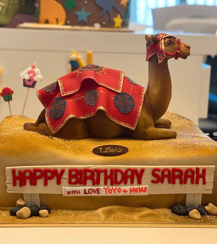 Radiant Camel Cake