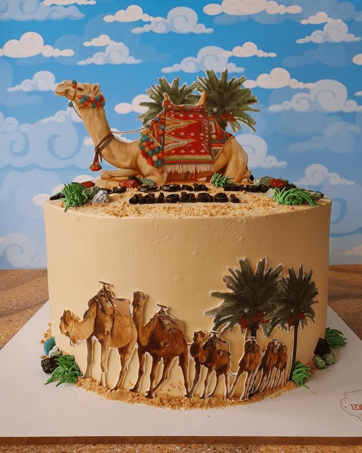 Ravishing Camel Cake