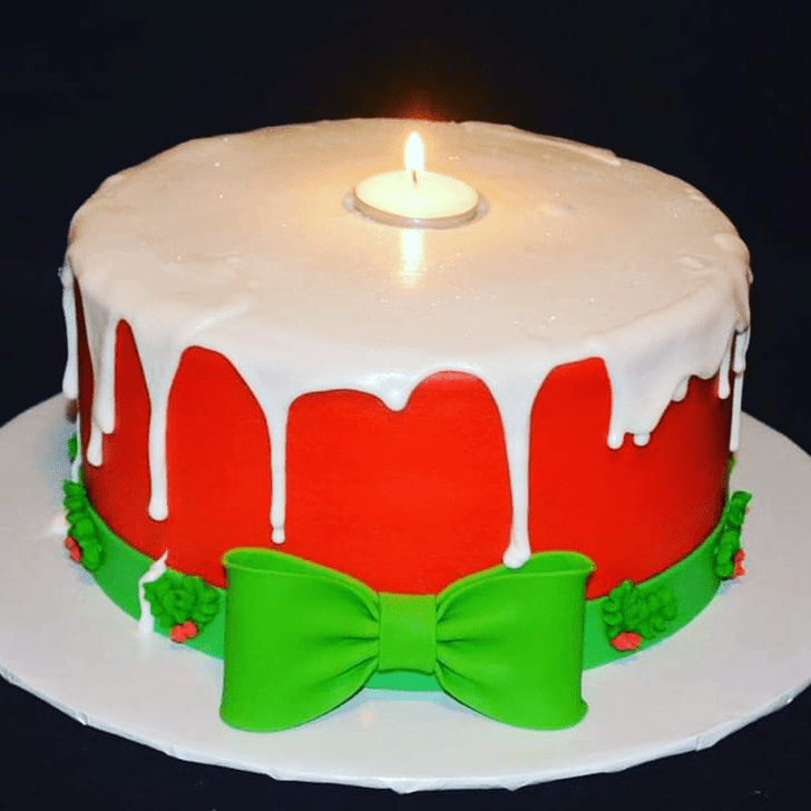 Beauteous Candle Cake