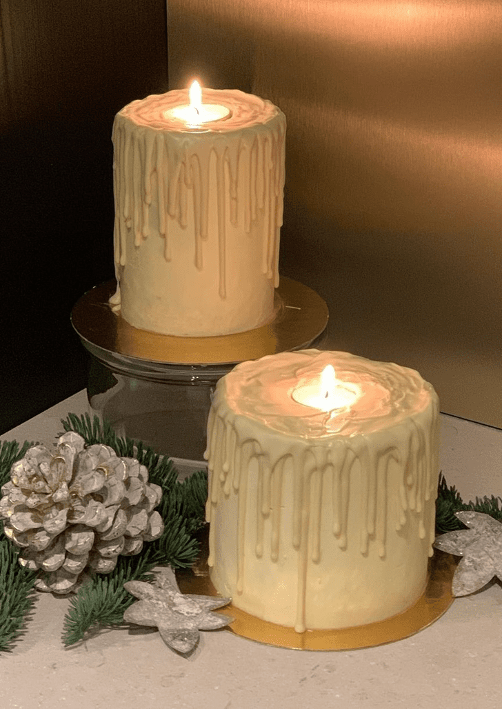Charming Candle Cake