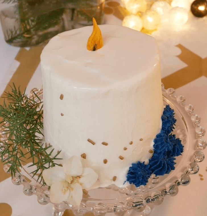 Classy Candle Cake