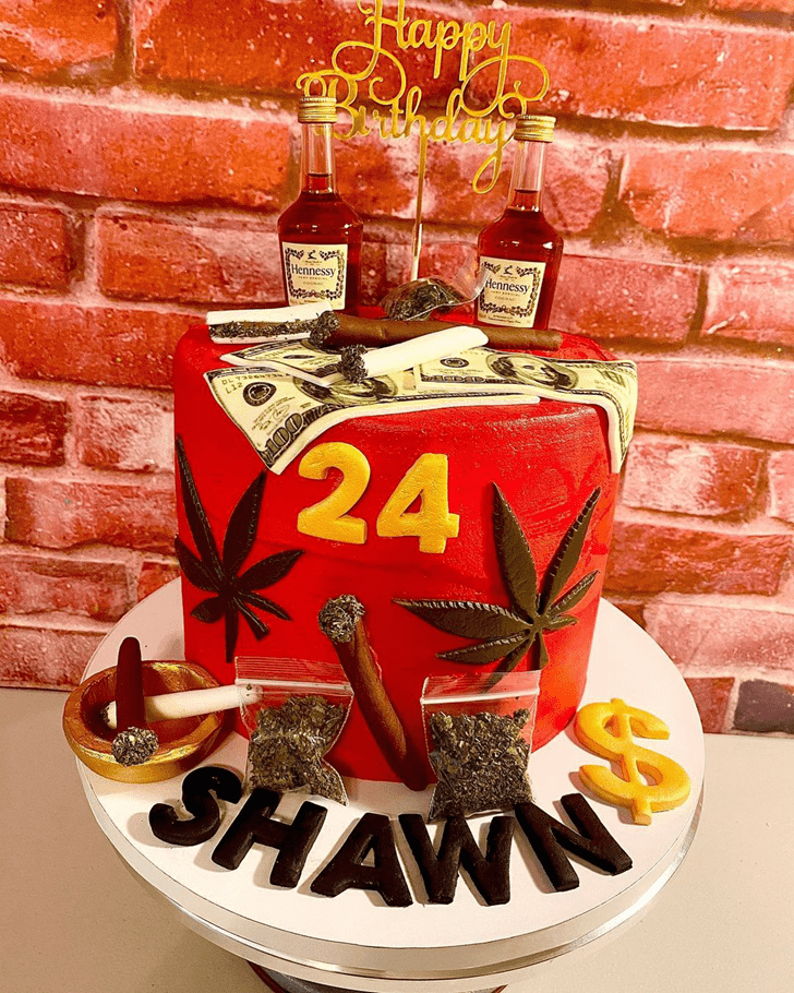 Admirable Cannabis Cake Design