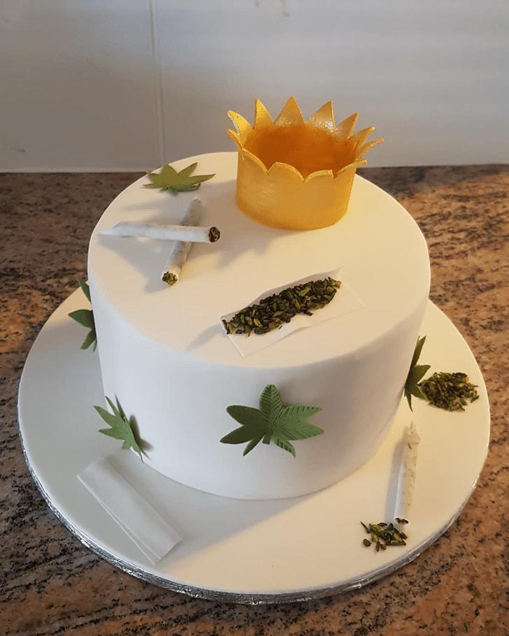 Charming Cannabis Cake