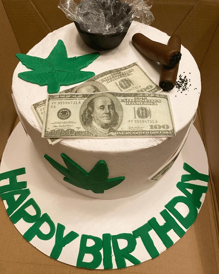 Elegant Cannabis Cake