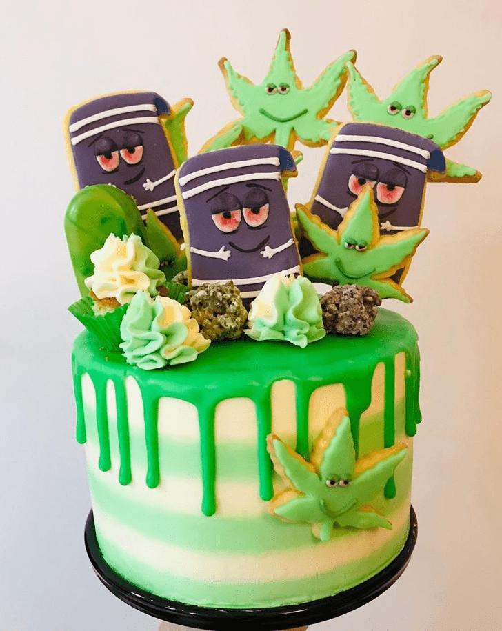 Inviting Cannabis Cake