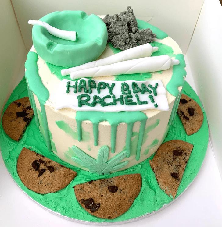 Pretty Cannabis Cake