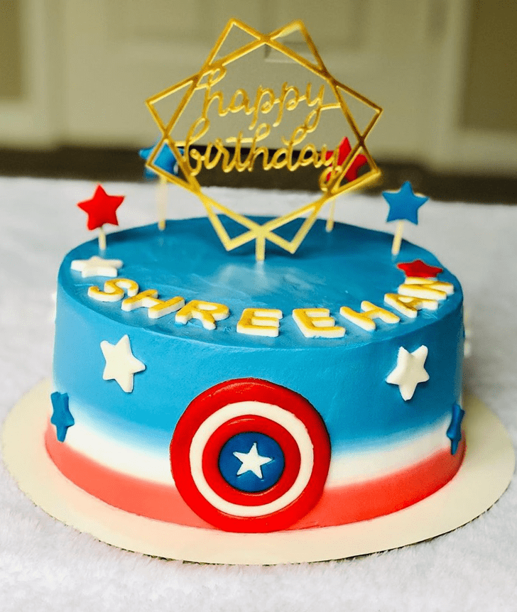 Adorable Captain America Cake