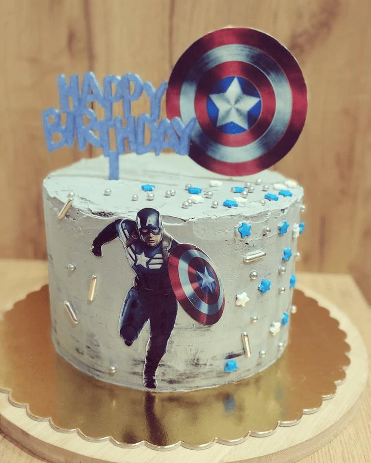 Alluring Captain America Cake