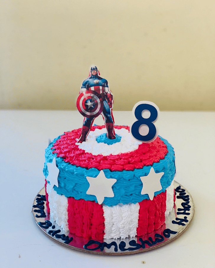 Angelic Captain America Cake