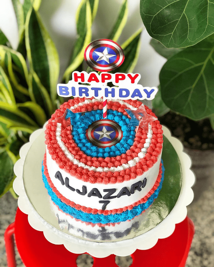 Appealing Captain America Cake