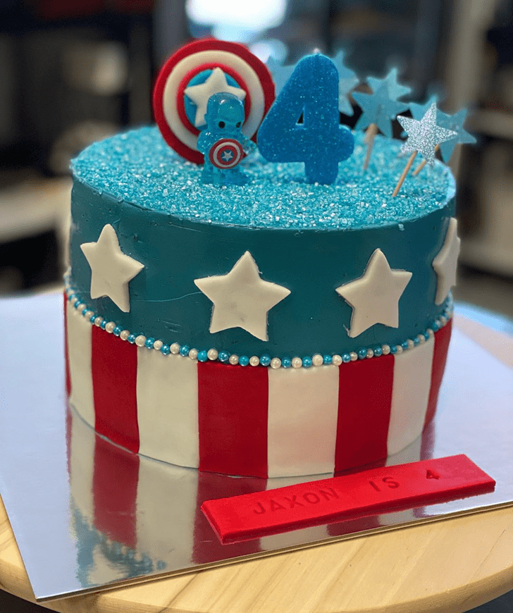 Beauteous Captain America Cake