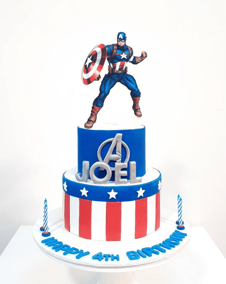 Bewitching Captain America Cake