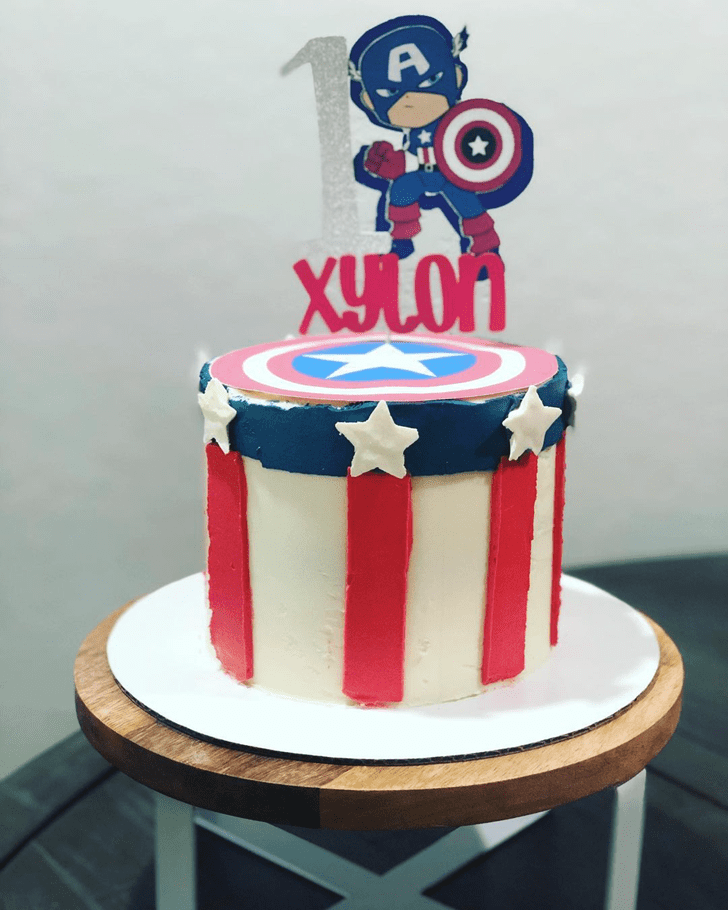 Captivating Captain America Cake