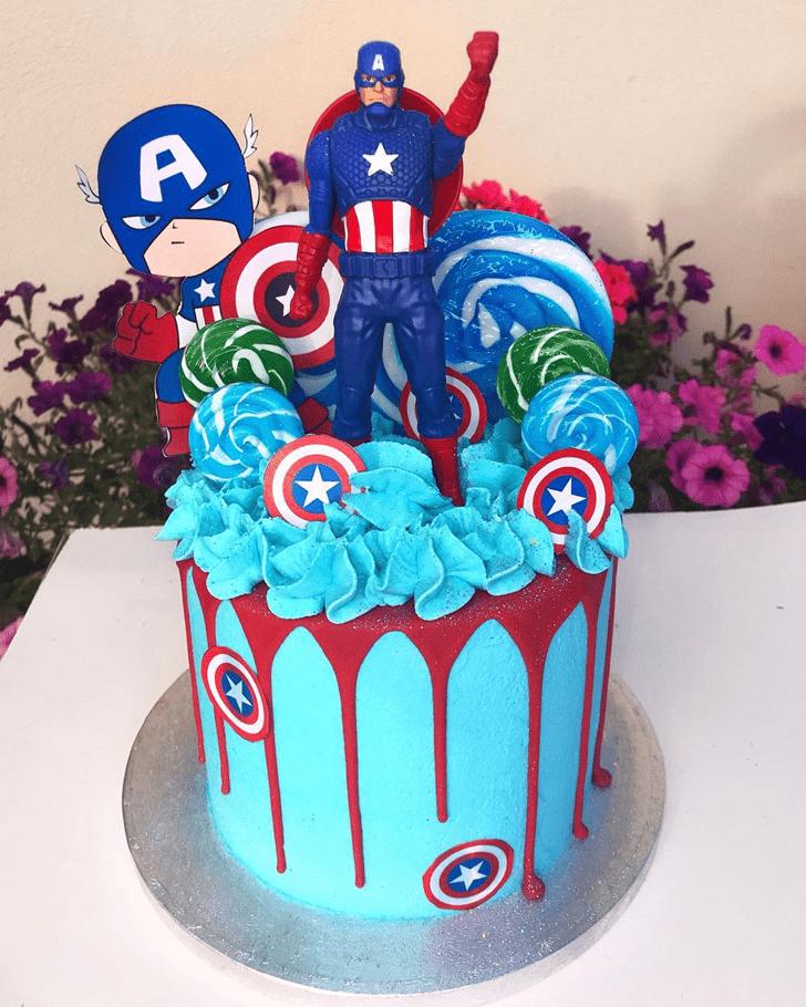 Charming Captain America Cake