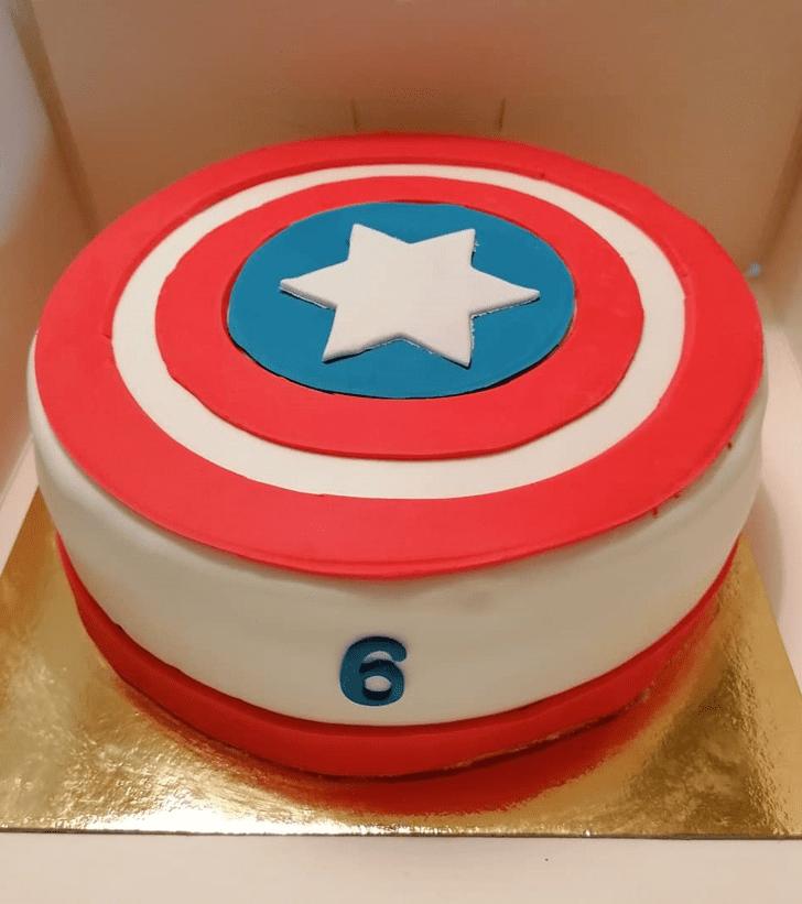 Classy Captain America Cake