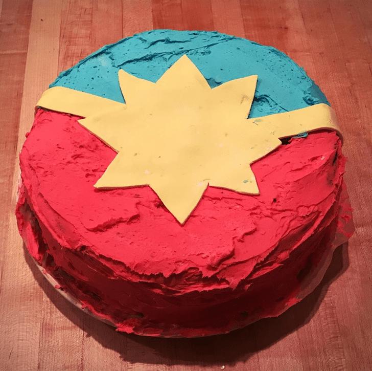 Admirable Captain Marvel Cake Design