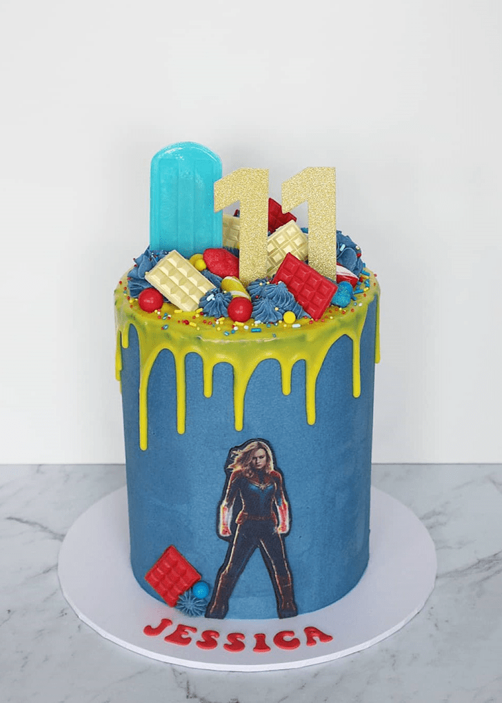 Adorable Captain Marvel Cake