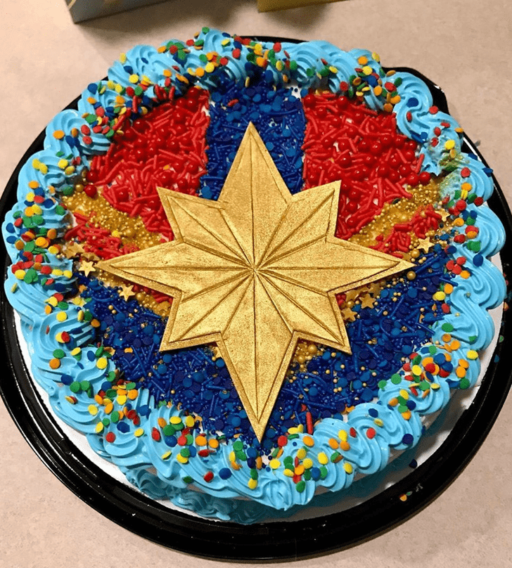 Appealing Captain Marvel Cake