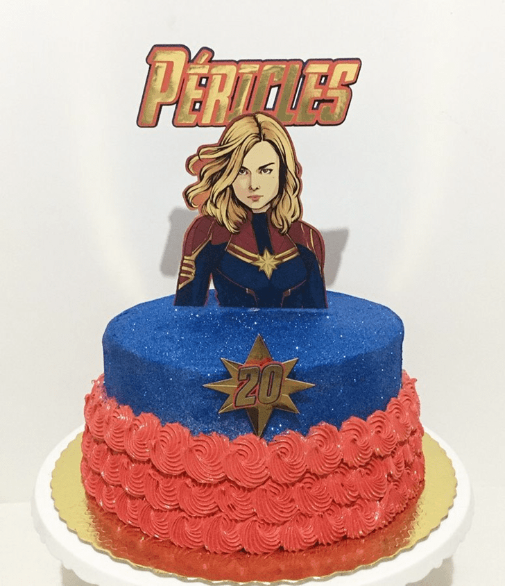 Beauteous Captain Marvel Cake