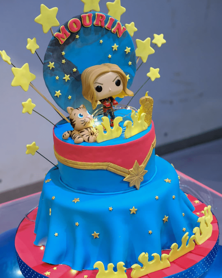Bewitching Captain Marvel Cake
