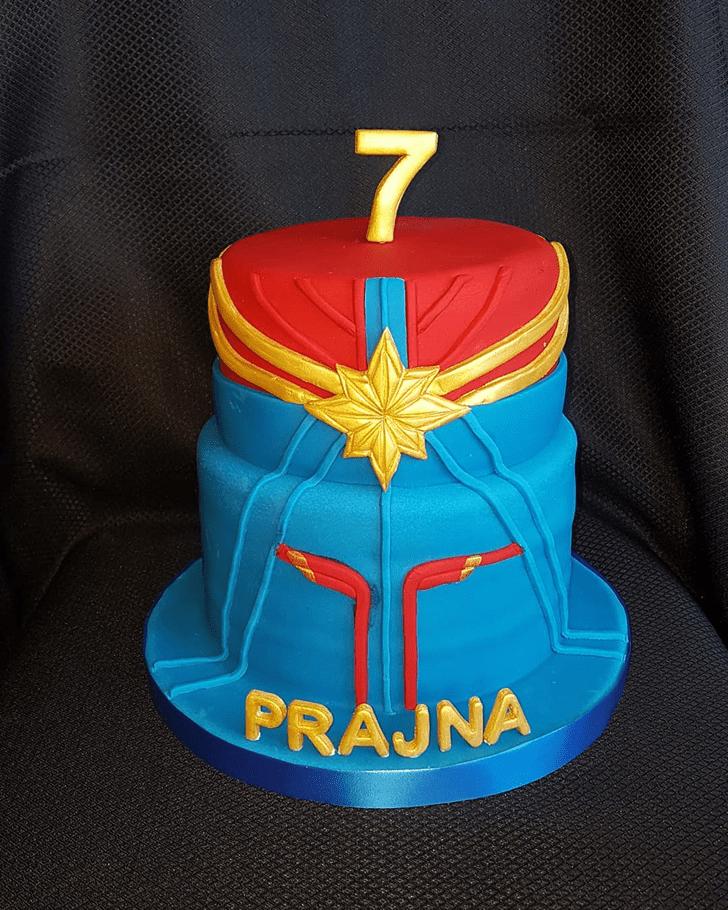 Captivating Captain Marvel Cake