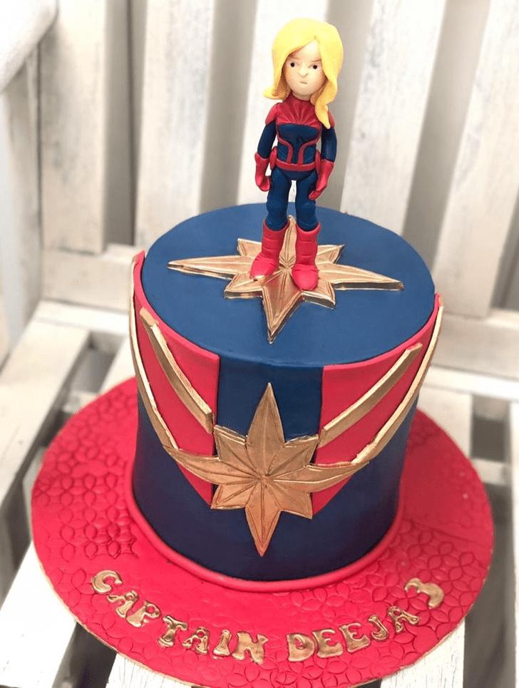 Classy Captain Marvel Cake
