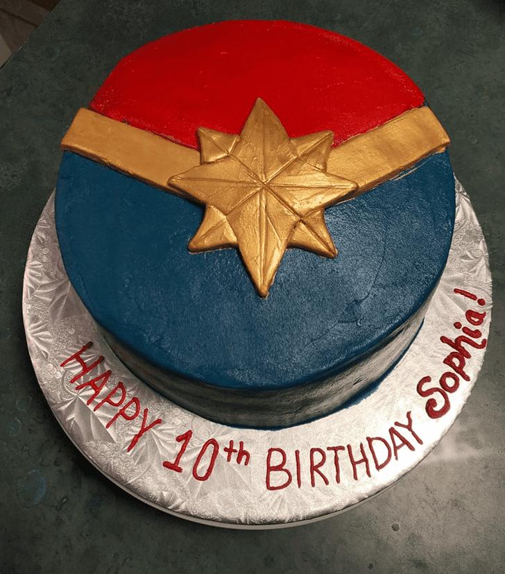 Delightful Captain Marvel Cake