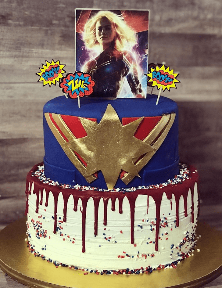 Divine Captain Marvel Cake