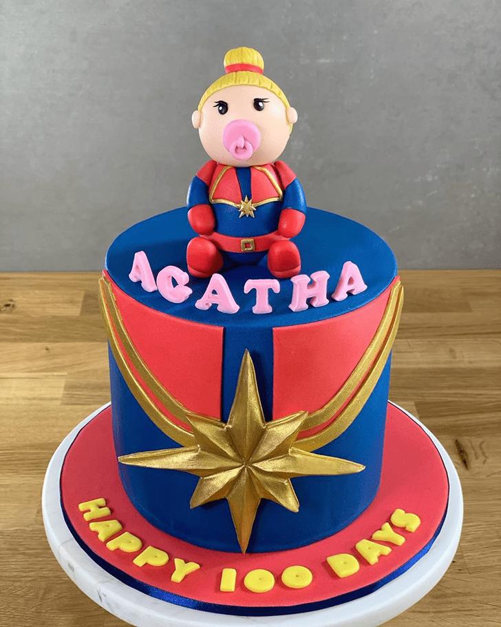 Elegant Captain Marvel Cake