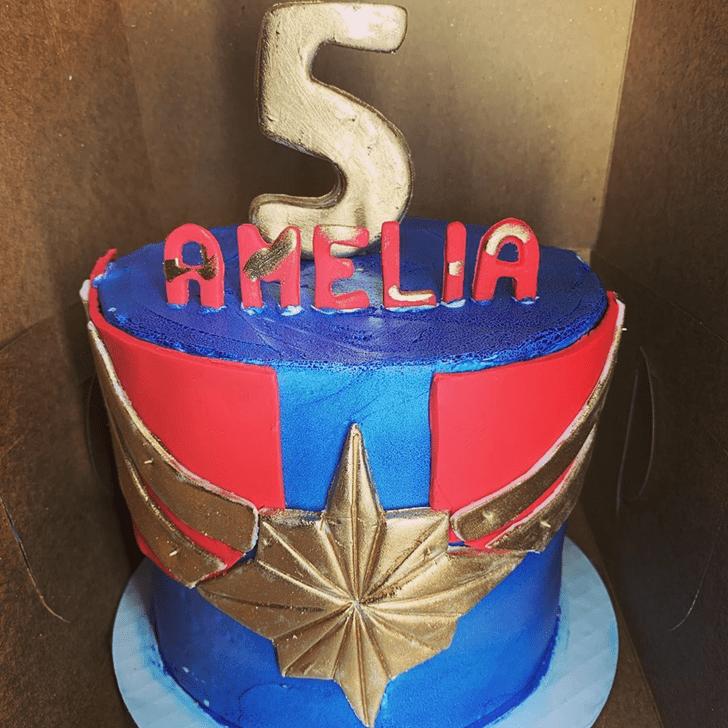 Excellent Captain Marvel Cake