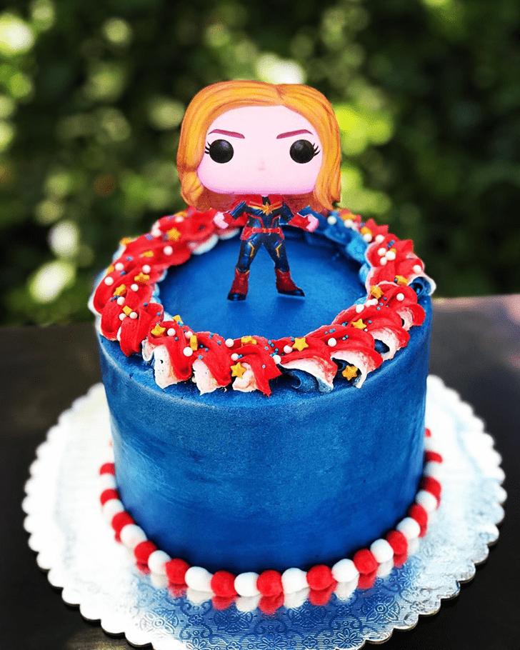 Fair Captain Marvel Cake