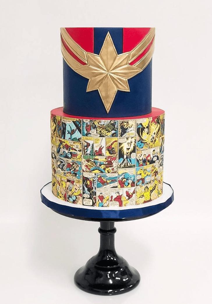 Fetching Captain Marvel Cake