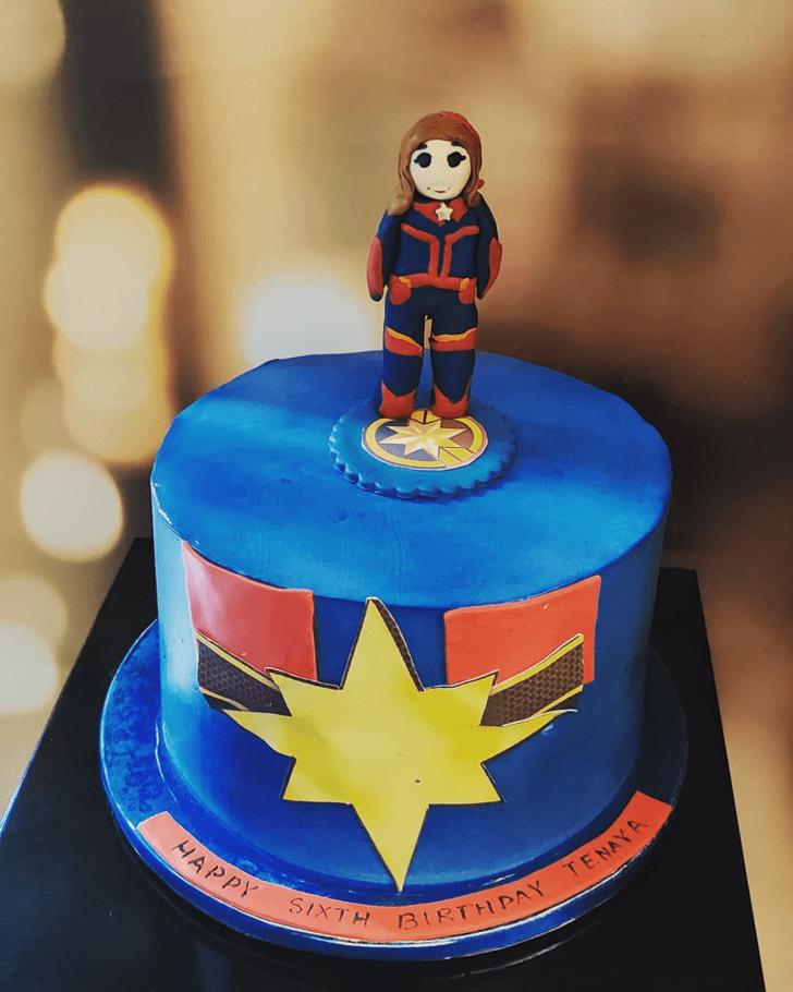 Gorgeous Captain Marvel Cake