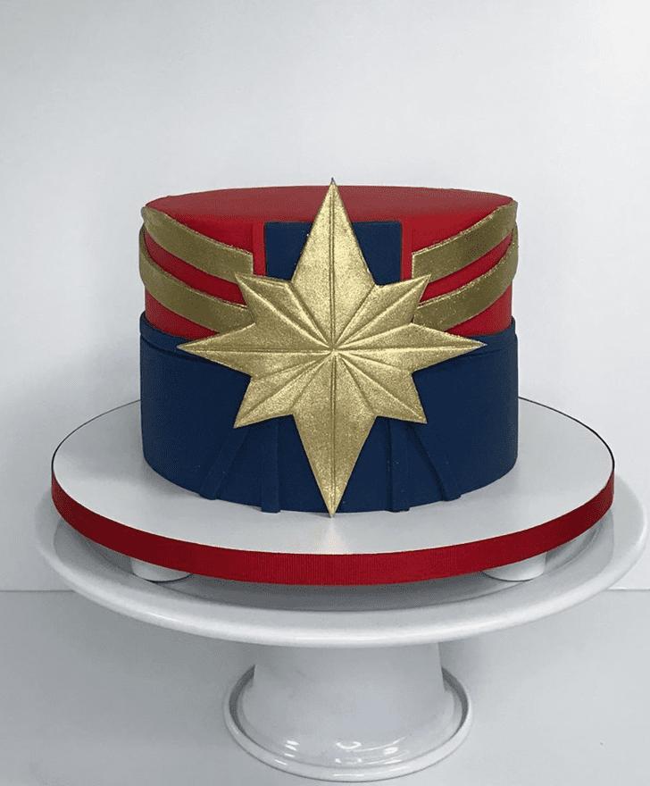 Graceful Captain Marvel Cake