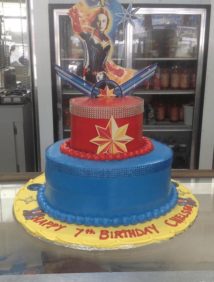 Grand Captain Marvel Cake