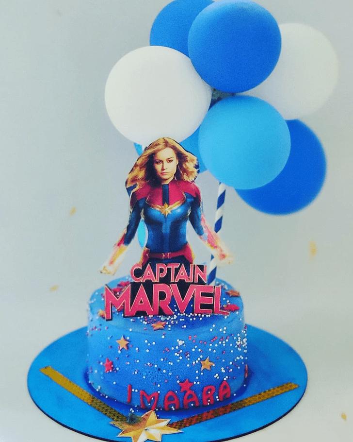 Handsome Captain Marvel Cake