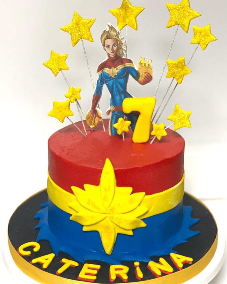 Inviting Captain Marvel Cake
