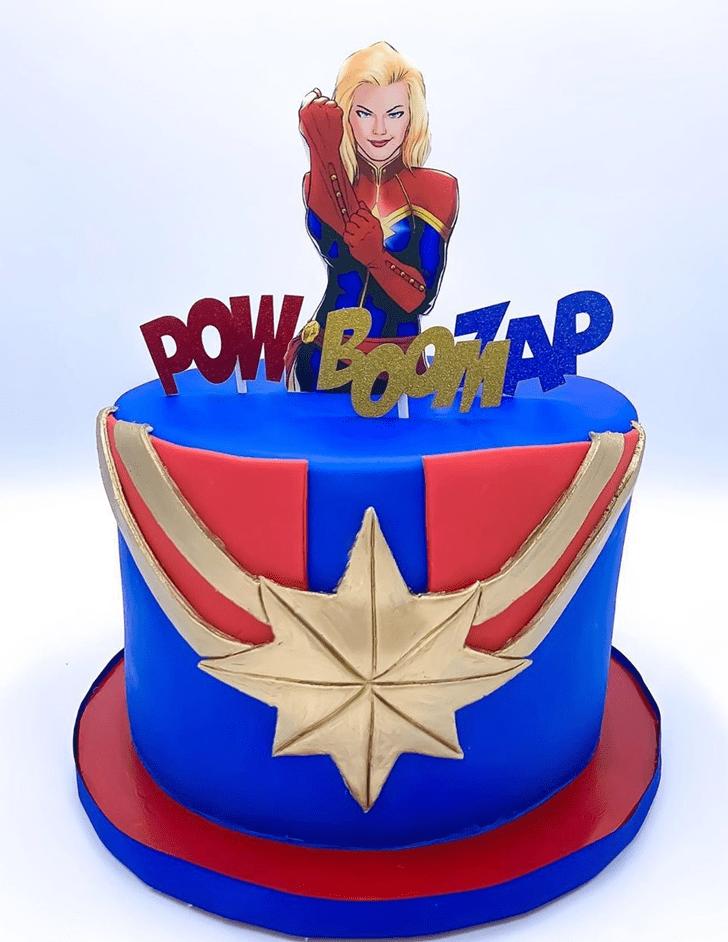 Magnificent Captain Marvel Cake