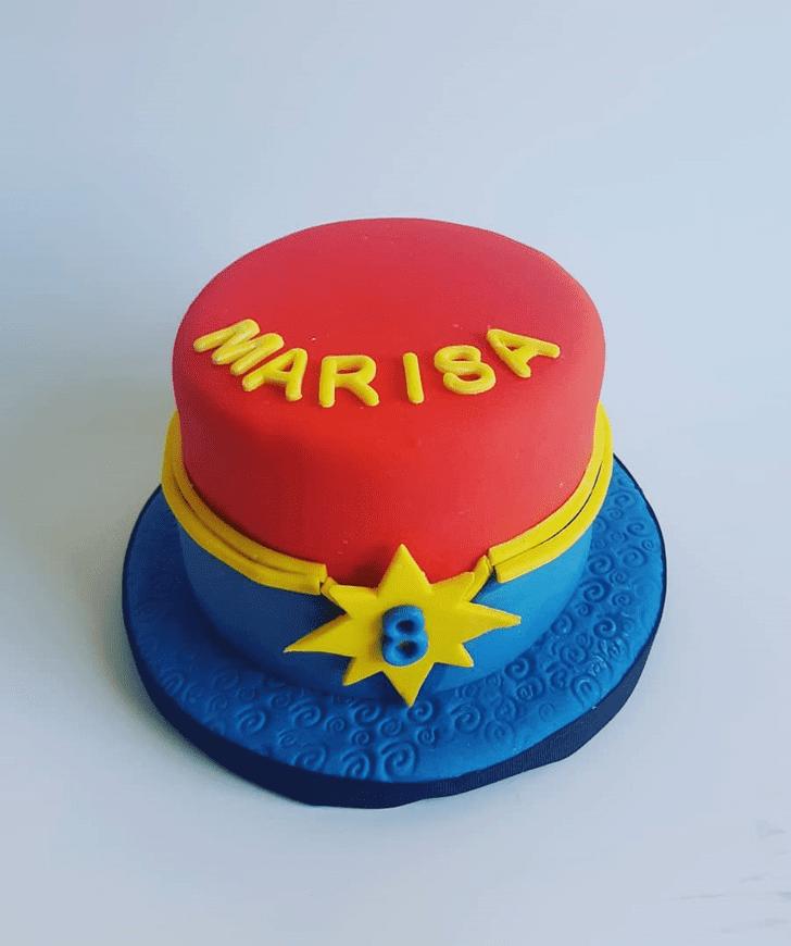 Marvelous Captain Marvel Cake