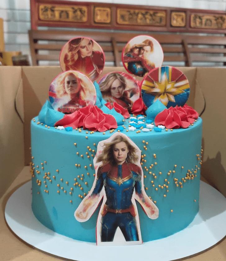Mesmeric Captain Marvel Cake