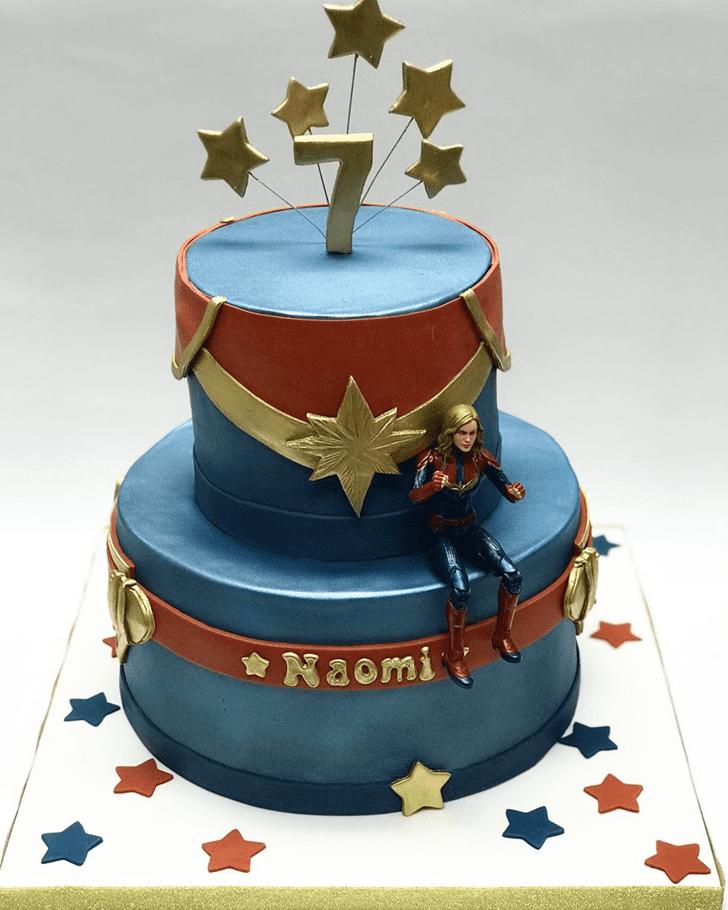 Radiant Captain Marvel Cake