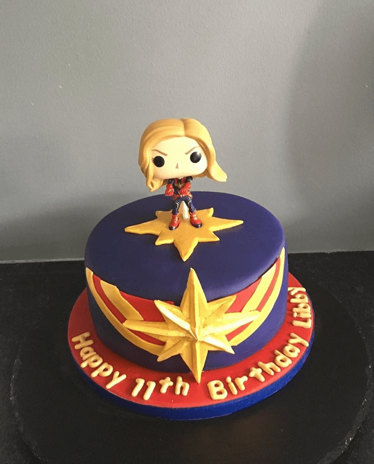 Ravishing Captain Marvel Cake