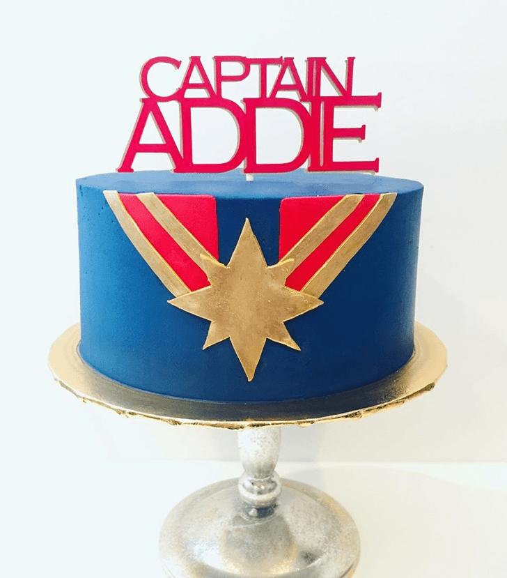 Resplendent Captain Marvel Cake