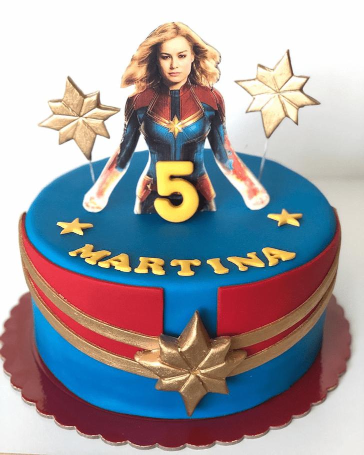 Slightly Captain Marvel Cake